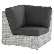 coussin canapé extérieur edge canapé de jardin module d angle en résine tressée