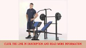 Marcy Bench Press Set Marcy Classic Bench And Weight Set 120pound Youtube