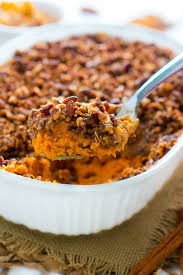 sweet potato casserole with pecan topping delicious meets healthy