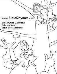 Jesus Sees Biblerhymes Zacchaeus Coloring Book Zacchaeus Coloring Page