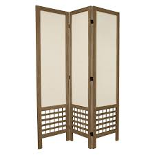 canvas room divider belham living carter mid century modern 3 panel room divider