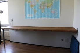 Diy Wall Desk Use Ikea Countertop As A Desk For Home Office Http Www