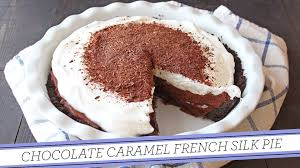 thanksgiving pie cake chocolate caramel french silk pie thanksgiving recipe youtube