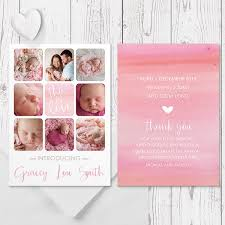 baby girl announcements photo or baby girl birth announcement card in
