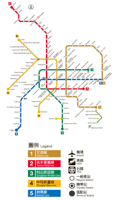 Metro Route Map by Traveling By Mrt Taipei Travel