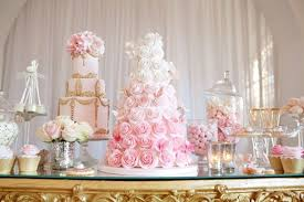 pink and gold cake table decor creative wedding dessert bar ideas the bridal circle