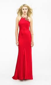 high natural open back floor length embellished elegant red prom