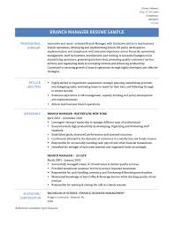 Salon Manager Resume Examples by Sample Bank Manager Resume Resume For Your Job Application