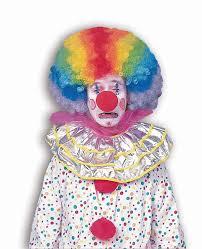 Halloween Clown Costumes by Amazon Com Forum Novelties Men U0027s Jumbo Rainbow Clown Costume Wig