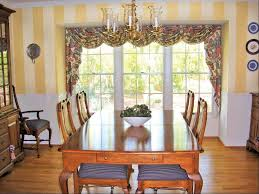 dining room window treatment ideas wooden window yellow wall
