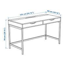 bureau 60 cm alex bureau wit ikea