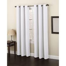 White Curtain Panel Semi Opaque White No 918 Casual Montego Woven Grommet Top Curtain