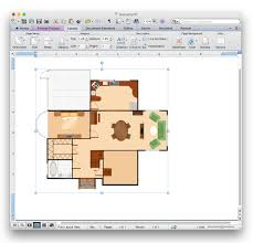 make house plans how to add a floor plan to a ms word document using conceptdraw pro