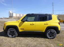 jeep chevrolet 2015 solar yellow 2015 jeep renegade trailhawk 4x4 exterior photo