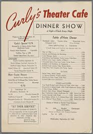 1940s menu for curly u0027s theater cafe lettering u0026 typography