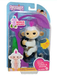 amazon com fingerlings baby monkey sophie white includes