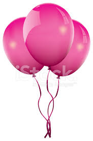 palloncini clipart tre palloncini rosa stock vector freeimages