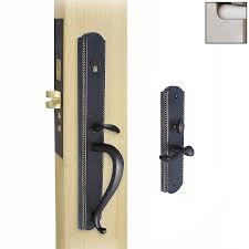 Mortise Locksets Shop Double Hill Brass Satin Nickel Mortise Lock Keyed Entry Door