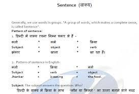 sentence pattern in english grammar download english grammar pdf in hindi and english thegkadda