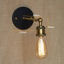 Edison Bulb Sconce Antique Wall Sconce Art Decor With Edison Bulb Wall Light From