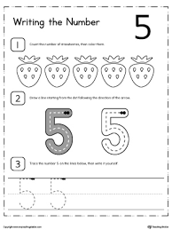 learn to count and write number 5 number 5 learn to count and