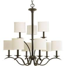 Bronze Chandelier With Shades Westinghouse Lenola 5 Light Amber Bronze Chandelier With Beige