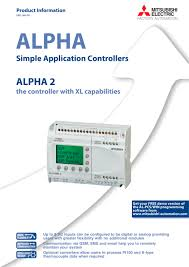 micro controller alpha 2 mitsubishi automation pdf catalogue