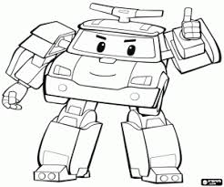 robocar poli coloring pages printable games