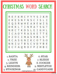 printable unscramble christmas games word search for kids safety adult searches coloring 10f 9f maker
