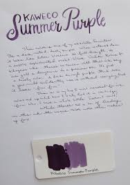 ink review kaweco summer purple u2013 the well appointed desk