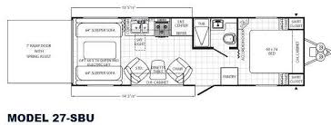 Toy Hauler Floor Plans New 2012 Palomino Puma Unleashed 27 Sbu Toy Hauler Travel Trailer