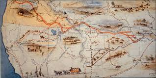 Bent Creek Trail Map Francis Parkman And The Oregon Trail 1840s California Trail Map