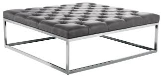 Square Ottomans Sutton Square Ottoman Large In Grey Nobility From Sunpan 34008