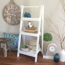 Wooden Ladder Bookshelf Plans by Best 25 White Ladder Shelf Ideas On Pinterest Beach Style Bath