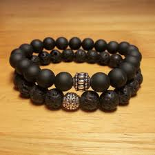 black jewelry bracelet images Shop black lava rock jewelry on wanelo jpg