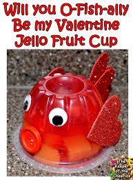 fish jello fruit cup valentine valentines day pinterest
