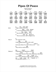 light a candle for peace lyrics pipes of peace sheet music by paul mccartney lyrics chords 100275