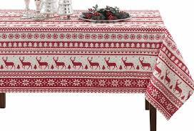 christmas tablecloth top 8 best christmas tablecloths in 2018 reviews buyer s guides