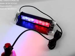 led security light bar 3868 2a red blue police car led emergency signal light bar led