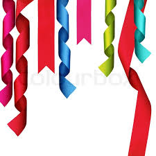 decorative ribbon christmas decoration ribbons with clipping path stock photo