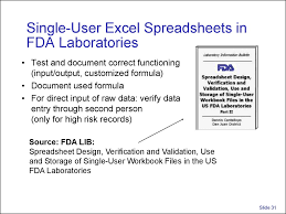 Excel Spreadsheet Tests Practice Validation And Use Of Exce Spreadsheets In Regulated Environments