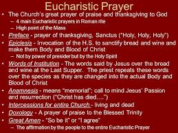 the sacrament of the eucharist ppt