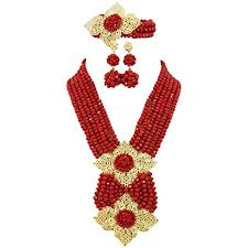 african beads necklace images Africanbeads red african beads jewelry set african jpg