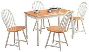 White Wooden Kitchen Table And Chairs Home Decorating Ideas - White and wood kitchen table