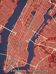 map ny city new york city manhattan map city prints