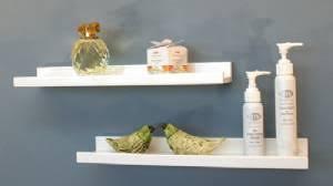 White Bathroom Shelves - belle ledge shelf topshelf
