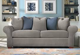 Stretch Sofa Covers by Sure Fit Stretch Pique 2 Separate Seat Sofa Slipcover Flannel Gray