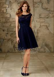 navy blue bridesmaids dresses navy blue lace knee length bridesmaid dresses naf dresses