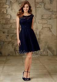 knee length bridesmaid dresses navy blue lace knee length bridesmaid dresses naf dresses