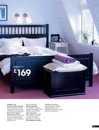 Ikea Hemnes Bed Frame Hemnes Bedroom Black Bed Light Bedding And White Side Table